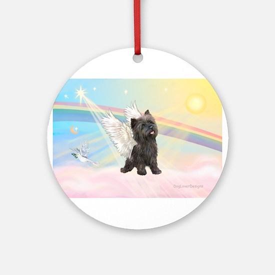 Angel / Cairn Terrier (brin) Ornament (Round)