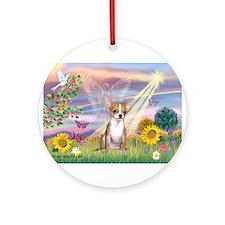 Cloud Angel / Chihuahua (f) Ornament (Round)