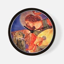 Mandolin Angel / Cocker (brn) Wall Clock