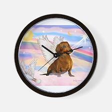 Dachshund / Angel (br) Wall Clock