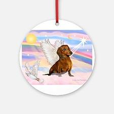 Dachshund / Angel (br) Ornament (Round)