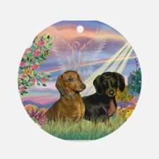 Cloud Angel Doxies Ornament (Round)