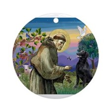 St. Francis & FCR Ornament (Round)