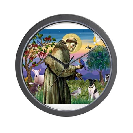 Saint Francis / Smooth Fox Te Wall Clock
