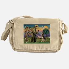 St Francis / German Shepherd Messenger Bag
