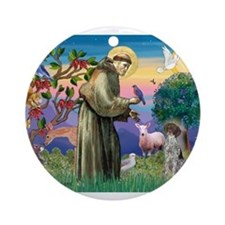 Saint Francis /German SHP Ornament (Round)