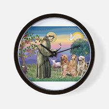 St Francis / 3 Goldens Wall Clock