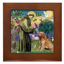 St Francis & Golden Framed Tile