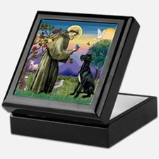 St Francis / Great Dane (blk) Keepsake Box