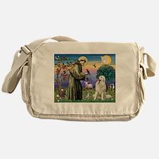 St Francis / Great Pyrenees Messenger Bag