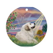 Cloud Angel / Great Pyrenees Ornament (Round)