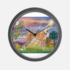Cloud Angel & Greyound Wall Clock