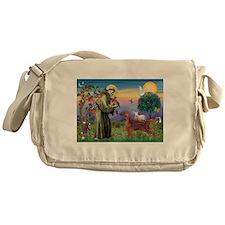 St Francis / Irish Setter Messenger Bag