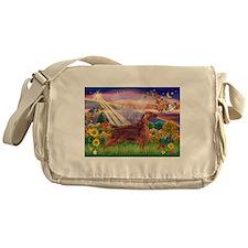 Autumn Angel / Irish Setter Messenger Bag