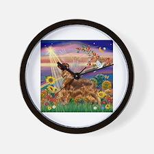 Autumn Angel / Irish Setter Wall Clock