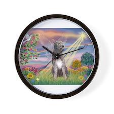 Cloud angel / Wolfhound(g) Wall Clock