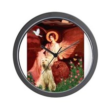 Seated Angel/Spinone Wall Clock