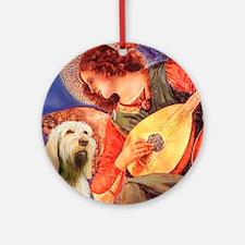 Mandolin Angel/Spinone Ornament (Round)
