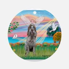 Angel Star / Spinone(12) (r) Ornament (Round)