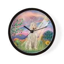 Cloud Angel /Spinone (11) (w) Wall Clock