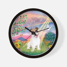Cloud Angel / JRT puppy Wall Clock