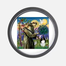 St Francis / Japanese Chin Wall Clock
