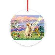 Cloud Angel / Lab (y) Ornament (Round)