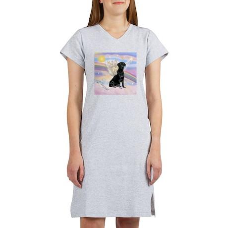 Black Lab Angel Women's Nightshirt
