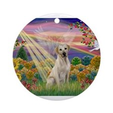 Autumn Angel / Lab (y) Ornament (Round)