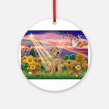 Autumn Angel / Lakeland Terri Ornament (Round)