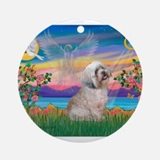 Guardian / Lhasa Apso Ornament (Round)
