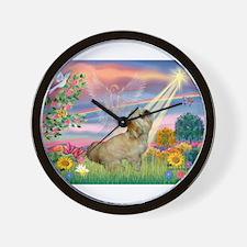 Cloud Angel / Lhasa Apso Wall Clock