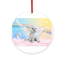 Maltese / Angel Ornament (Round)
