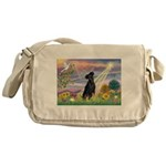 Cloud Angel / Miniature Pinsc Messenger Bag