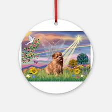 Cloud Angel & Norfolk Ornament (Round)