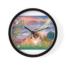 Cloud Angel / Pekingese(r&bm) Wall Clock