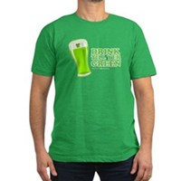 St Patrick's Day Drink Till Yer Green Men's Fitted