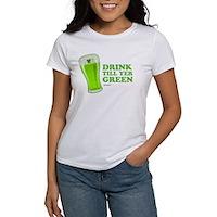 St Patrick's Day Drink Till Yer Green Women's T-Sh