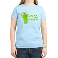 St Patrick's Day Drink Till Yer Green Women's Ligh
