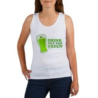 St Patrick's Day Drink Till Yer Green Women's Tank