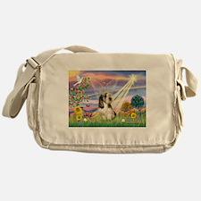 Cloud Angel & PBGV Messenger Bag
