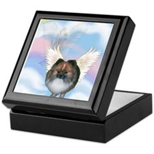 Brindle Pom Angel Keepsake Box