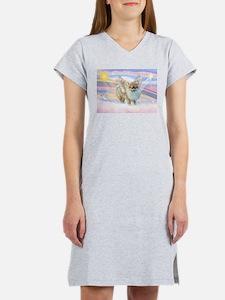 Pomeranian / Angl (s&w) Women's Nightshirt