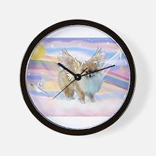 Pomeranian / Angl (s&w) Wall Clock