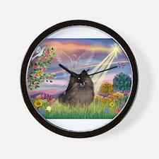 Cloud Angel /Pomeranian (brin Wall Clock