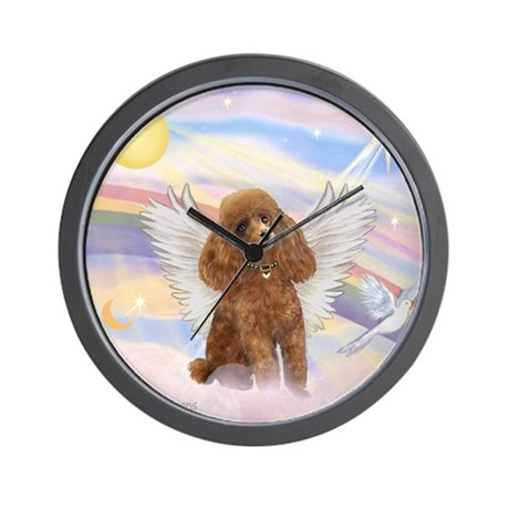 Angel/Poodle (Aprict Toy/Min) Wall Clock