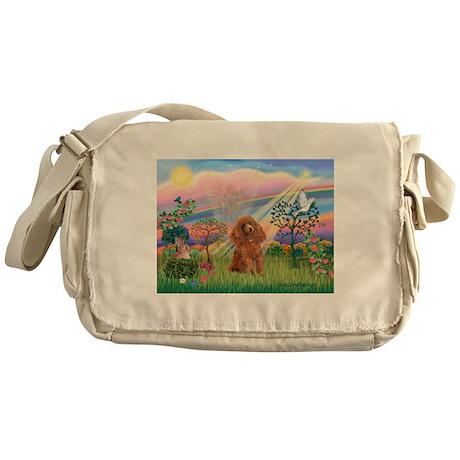 Cloud Angel/Poodle (Apricot) Messenger Bag