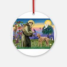 St Francis / Poodle Std (a) Ornament (Round)