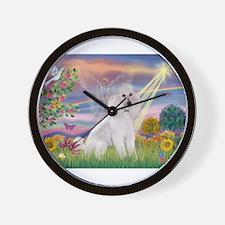 Cloud Angel /Poodle std (w) Wall Clock