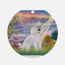 Cloud Angel /Poodle std (w) Ornament (Round)